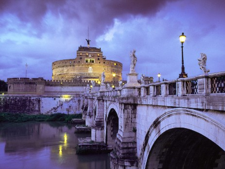 ---AAromaCastel-SantAngelo-and-Bridge-Rome-Italy-Wallpaper